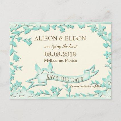Papel Picado Wedding Invitation - Lovely Doves