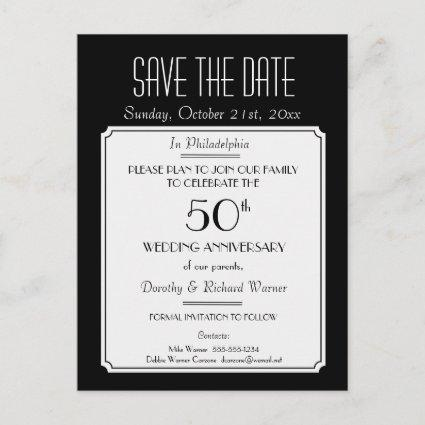 Party, Event or Reunion  in Black Announcements Cards