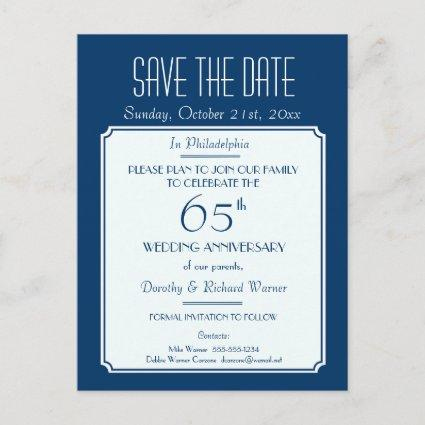 Party, Event or Reunion Save the Date in Blue Announcement