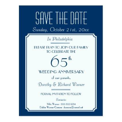 Party, Event or Reunion  in Blue Cards