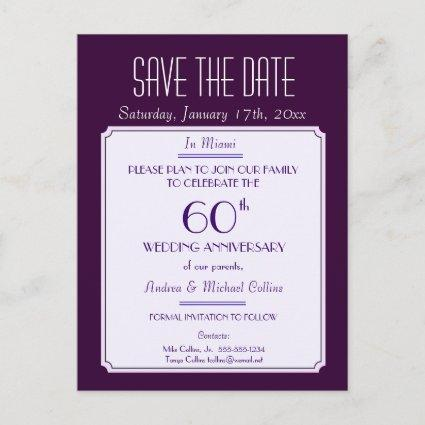 Party, Event or Reunion  in Plum Announcements Cards