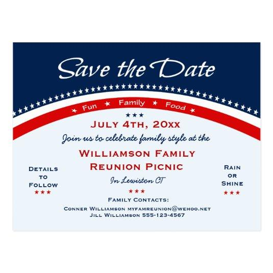 Patriotic Sunflower Reunion, Party, Save the Date Cards