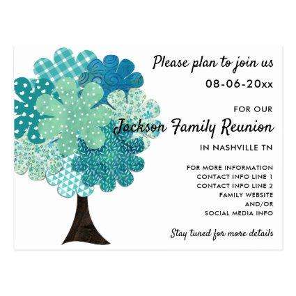 Pattern Family Reunion Tree 2-Sided