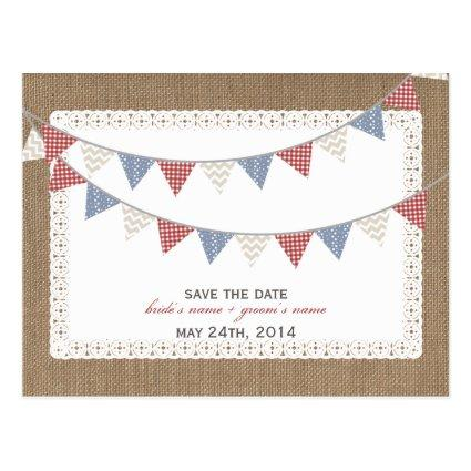 Patterned Bunting Burlap Inspired