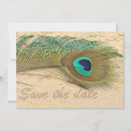 peacock cobalt blue  teal Save the date