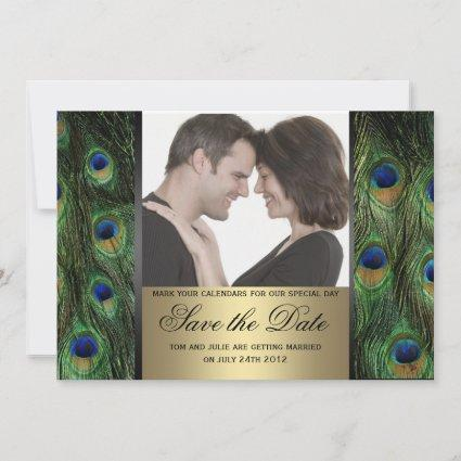 Peacock Save the Date Photo