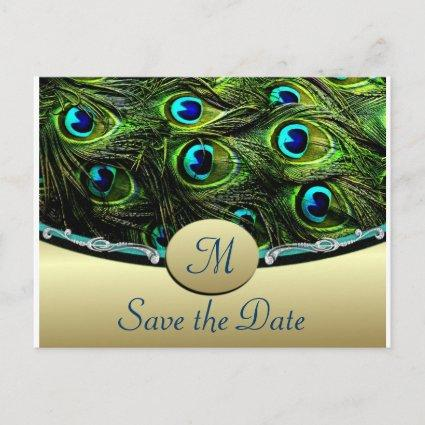 Peacock Save the Date Wedding