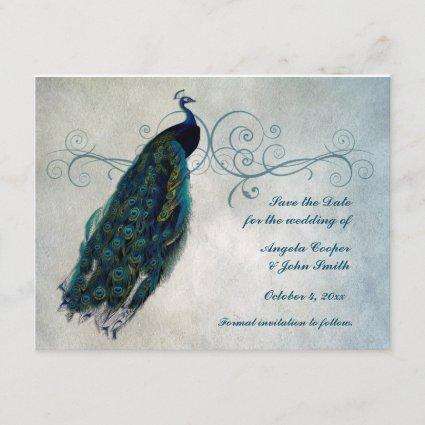 Peacock Scroll Save the Date