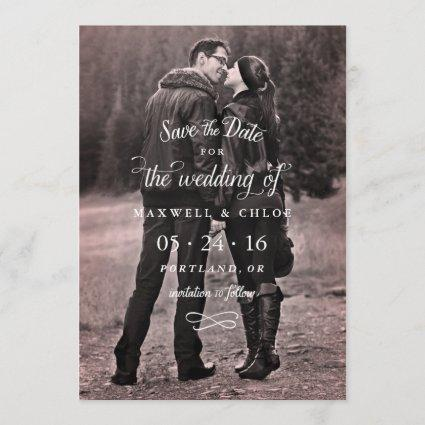 Perfect Type of Love photo save the date card