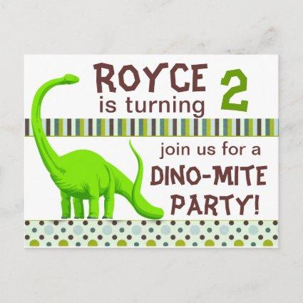 Personalize Dinosaur Birthday Invitation Save The Date Cards