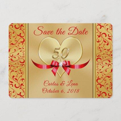 Personalized 50th Anniversary Save the Date