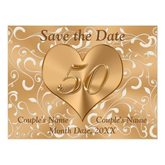 Personalized 50th Anniversary Save the Date Cards Cards