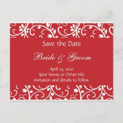 Personalized Floral Vine Save the Date Announcement