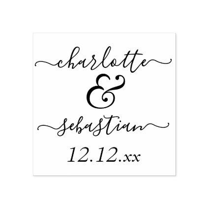 Personalized Name and Date Wedding Custom Made Rubber Stamp