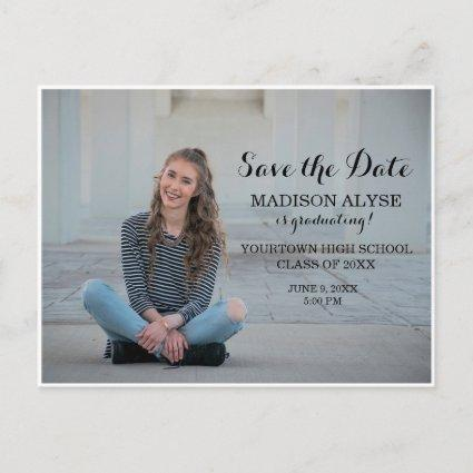 Personalized Photo Graduation Save the Date Announcement