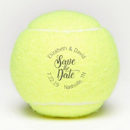 Personalized Save the Date Wedding Tennis Balls
