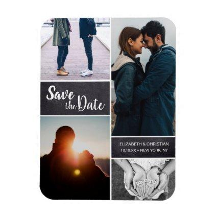 Personalized, Vertical Save the Date Photo Chalk Magnet