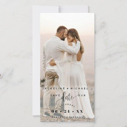 Photo and Script Wedding Save The Date Bookmark