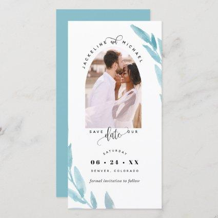 Photo Arch Ice Blue Wedding Save The Date Bookmark