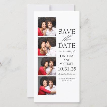 Photo Booth Bookmark Style Modern Save the Date