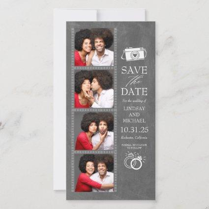 Photo Booth Bookmark Themed Cute Save the Date