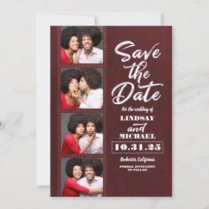 Photo Booth Bookmark Themed Fun Save the Date