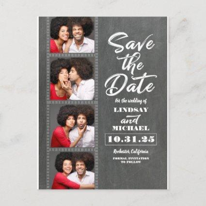 Photo Booth Photos Fun Save the Date Announcement