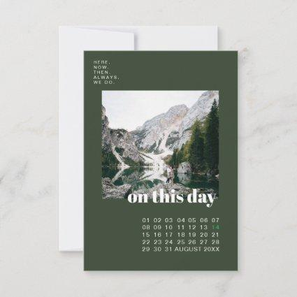 Photo & Calendar | Simple Typography Save the Date