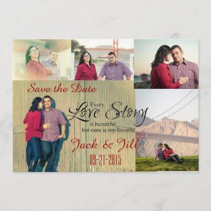Photo Collage Save the Date