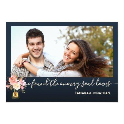 Photo Pink Navy One My Soul Loves Save Date Invitation