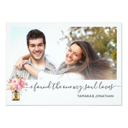 Photo Pink Peonies One My Soul Loves Save Date Invitation