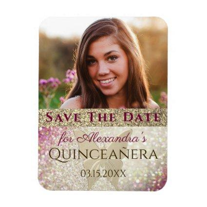 Photo Quinceanera Birthday Save The Date Magnet