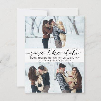 Photo Save the Date Cards with Three Pictures