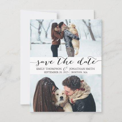 Photo Save the Date Card with Two Pictures