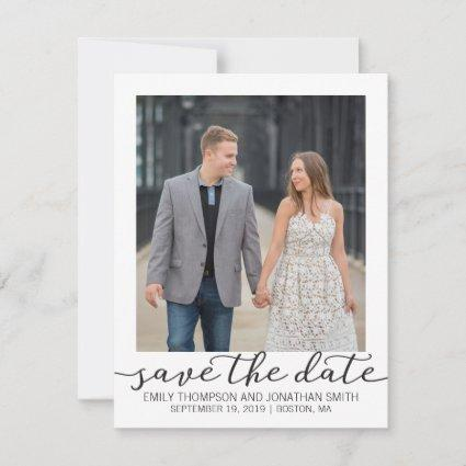 Photo Save the Date Card with White Border