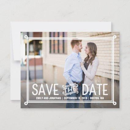 Photo Save the Date Cards with Border