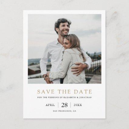 Photo Save the Date Wedding Invitation