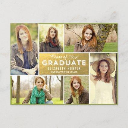 Photo Showcase Graduation Announcements GOLD