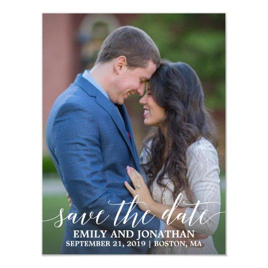 Photo Wedding Save The Date Magnets, One Picture Magnetic Invitation