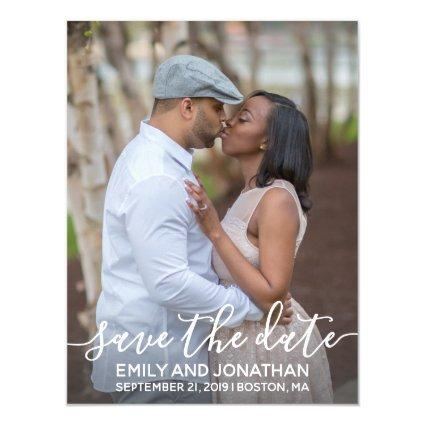 Photo Wedding Save The Date Magnets, Vertical Magnetic Invitation