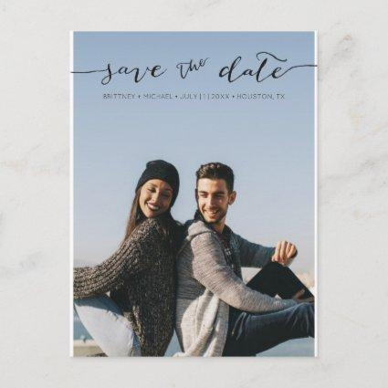 Photo with Handwritten Save the Date | Cards
