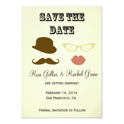 Photobooth Props Save-the-date Invitation
