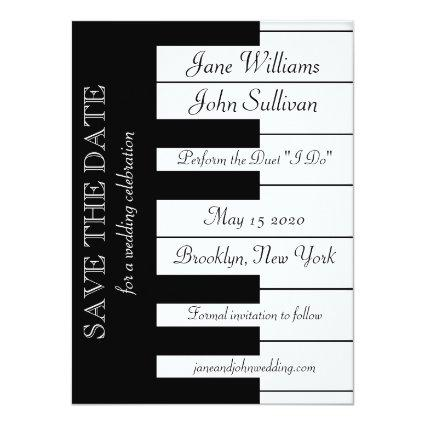 Piano Keyboard Music Wedding Invite