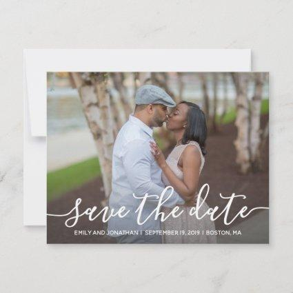 Picture Save the Date Card Horizontal, Modern