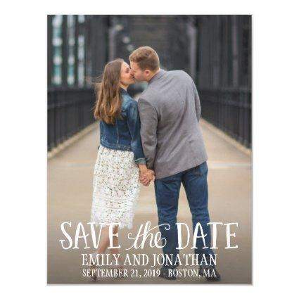 Picture Wedding Save The Date Magnets, Lettered Magnetic Invitation