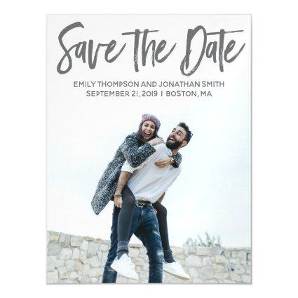 Picture Wedding Save The Date Magnets, Portrait Magnetic Invitation