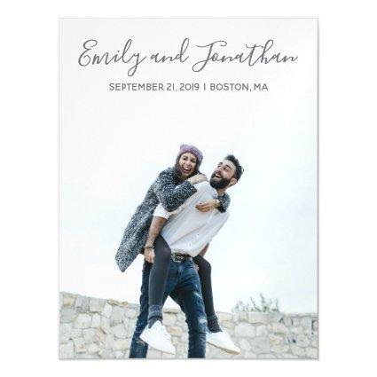 Picture Wedding Save The Date Magnets, Vertical Magnetic Invitation