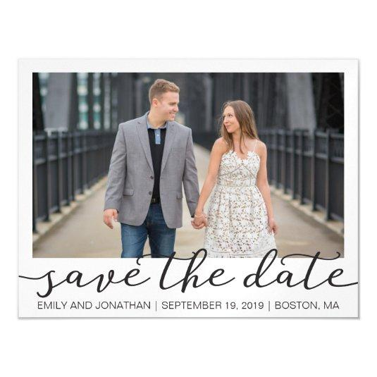 Picture Wedding Save The Date Magnets White Border
