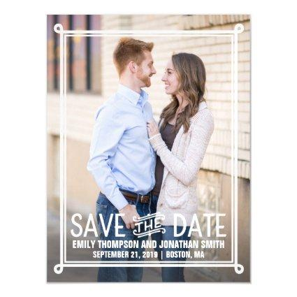Picture Wedding Save The Date Magnets with Border