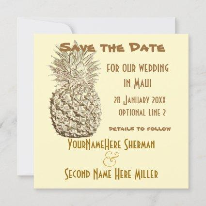Pineapple Save the Date Wedding